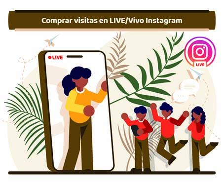 Comprar visitas en LIVE/Vivo Instagram