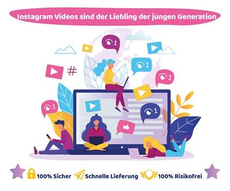 Instagram Videos sind der Liebling der jungen Generation