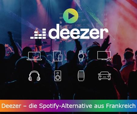 Deezer – die Spotify-Alternative aus Frankreich