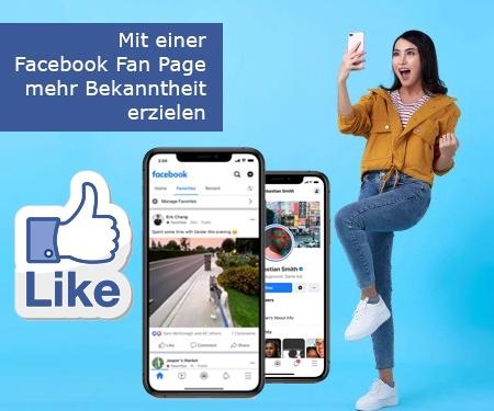 Mit einer Facebook Fan Page mehr Bekanntheit erzielen