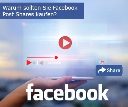 Warum sollten Sie Facebook Post Shares bei uns kaufen?