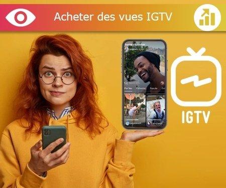 Acheter des vues IGTV