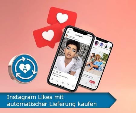Instagram Likes mit automatischer Lieferung kaufen