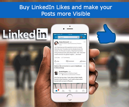 Buy LinkedIn Likes and make your Posts more Visible