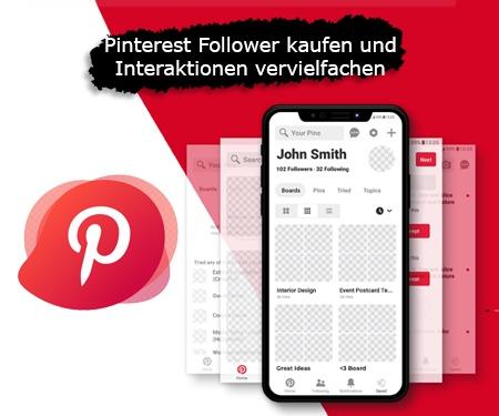 Pinterest Follower kaufen und Interaktionen vervielfachen