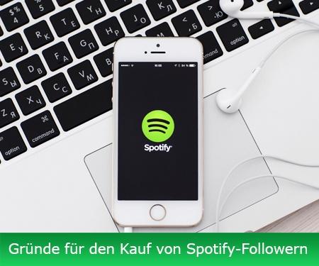 Gründe für den Kauf von Spotify-Followern