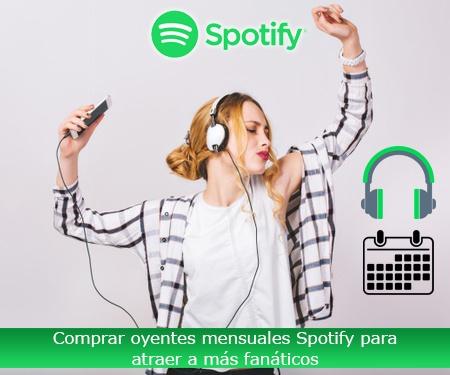 Comprar oyentes mensuales Spotify para atraer a más fanáticos