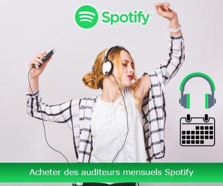 Acheter des auditeurs mensuels Spotify