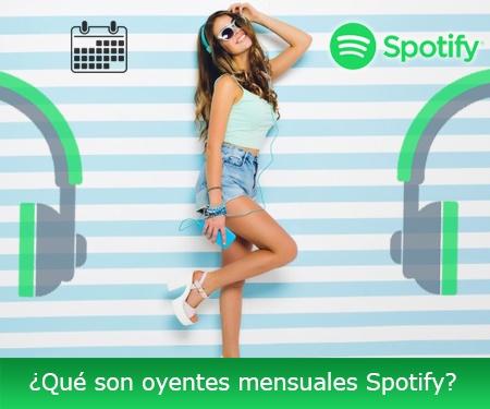 ¿Qué son oyentes mensuales Spotify?