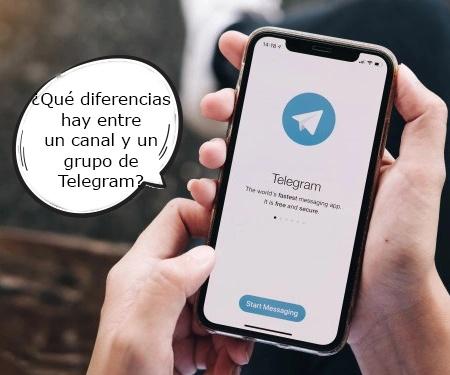 ¿Qué diferencias hay entre un canal y un grupo de Telegram?