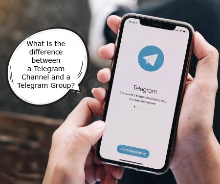 What is the difference between a Telegram Channel and a Telegram Group?
