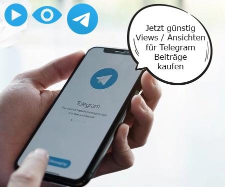 Jetzt günstig Views / Ansichten für Telegram Beiträge kaufen