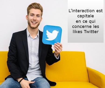 L'interaction est capitale en ce qui concerne les likes Twitter