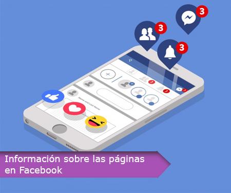 Información sobre las páginas en Facebook