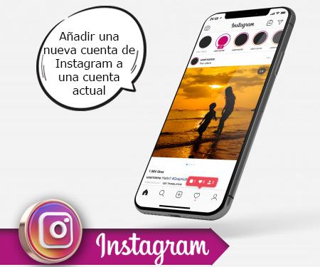 Añadir una nueva cuenta de Instagram a una cuenta actual