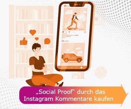 """""""Social Proof"""" durch das Instagram Kommentare kaufen"""