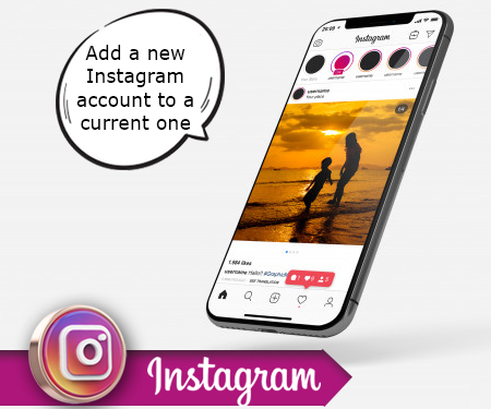 Add a new Instagram account to a current one